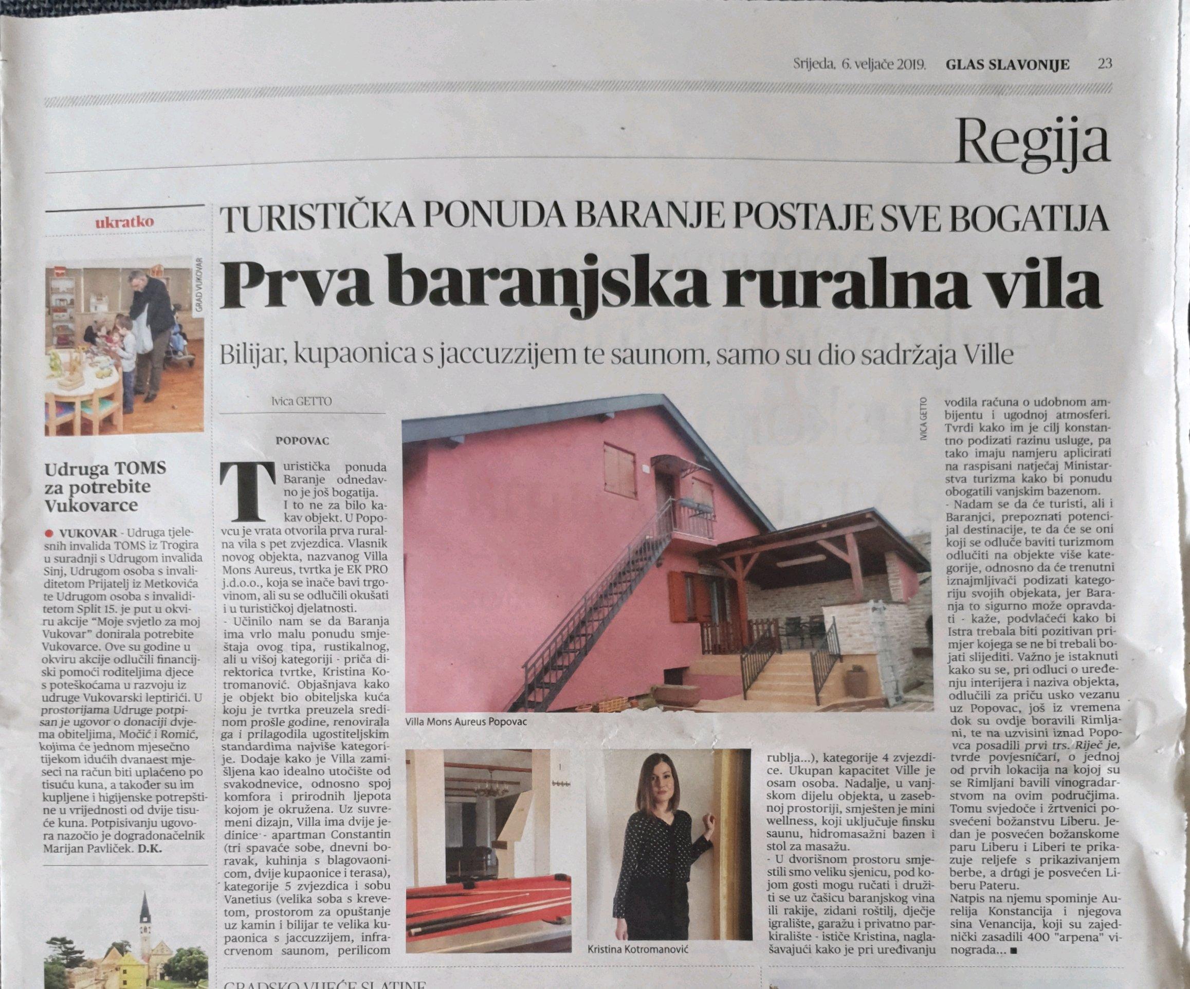Prva ruralna vila u Baranji